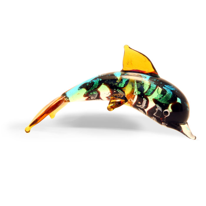 Small Glass Dolphin