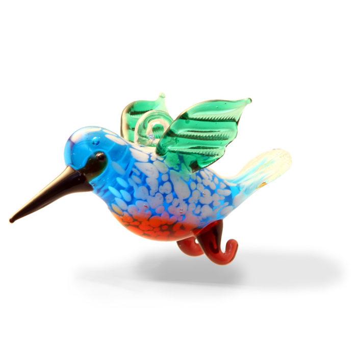 Large Glass Flying Hummingbird
