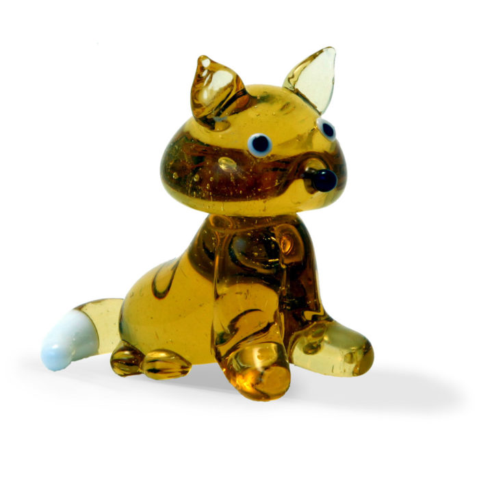 Large Glass Golden Fox