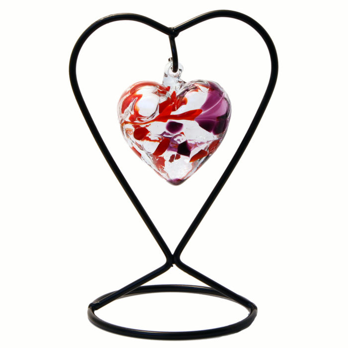 The January Birthstone Glass Heart
