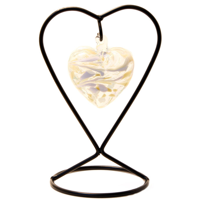 The April Birthstone Glass Heart