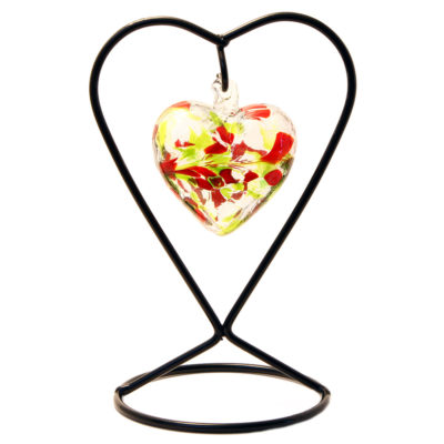 The August Birthstone Glass Heart