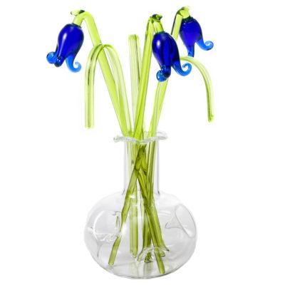 Glass Flower Bluebell in a Vase