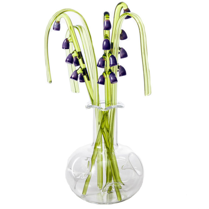 Glass Flower Lavender in a Vase