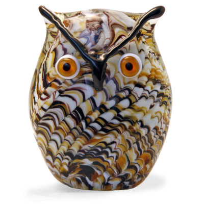 Large Glass Swirl Owl