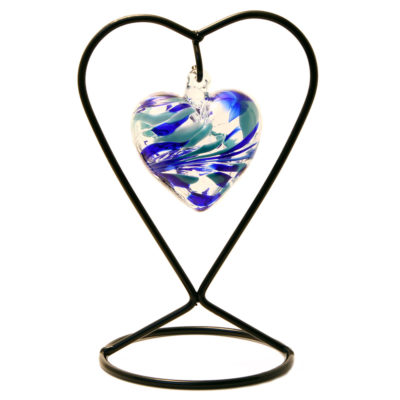 The March Birthstone Glass Heart