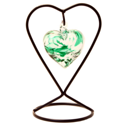 The May Birthstone Glass Heart