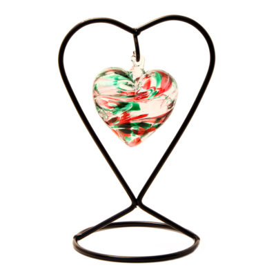 The October Birthstone Glass Heart