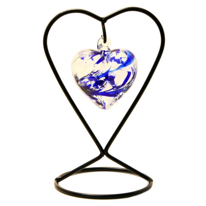 The September Birthstone Glass Heart