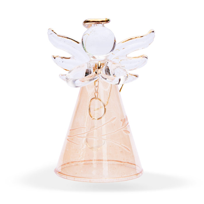 Gold Praying Bell Angel