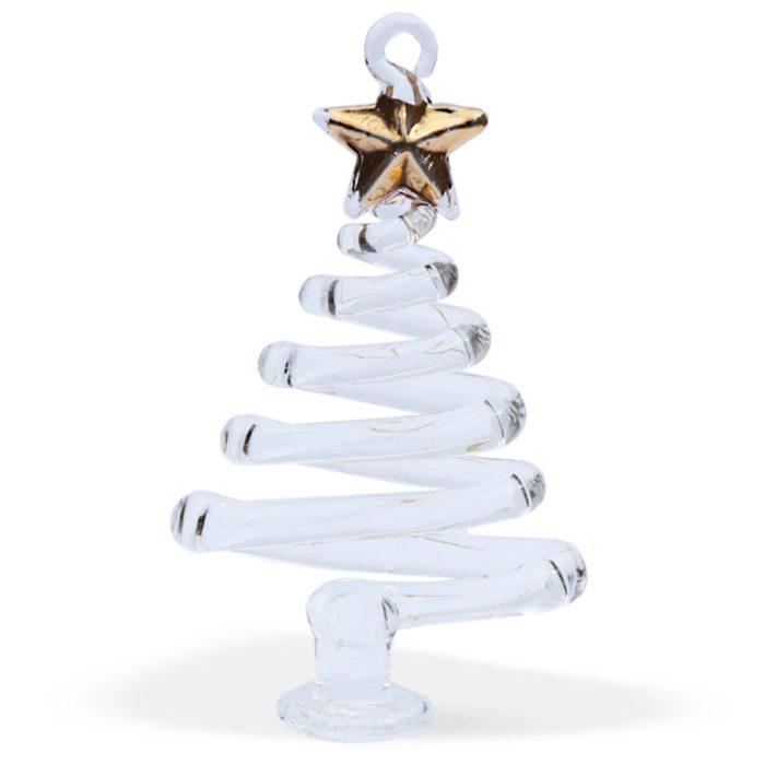 Gold Star Zig Zag Christmas Tree